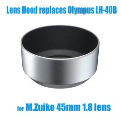 Ezfoto Bayonet Mount Lens Hood Shade For Olympus M.Zuiko Digital 45Mm 1:1.8 Lens, 100% Replaces Lh-40B