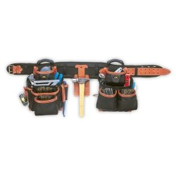 Custom Leather Craft 51452 27 Pocket - 4 Piece Top-Of-The-Line Pro-Framer'S Combo System