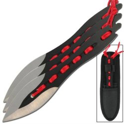 Triple Threat Throwing Knife Set