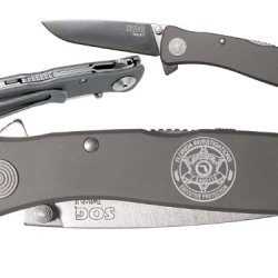 Police Florida Investigator Custom Engraved Sog Twitch Ii Twi-8 Assisted Folding Pocket Knife By Ndz Performance