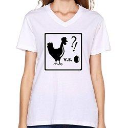 Goldfish Women'S Fashion Pre-Cotton Existential Dilemma T-Shirt White Us Size L