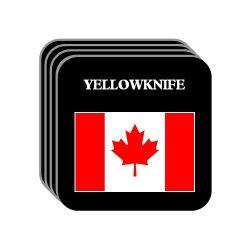 "Canada - ""Yellowknife"" Set Of 4 Mini-Mousepad Coasters"