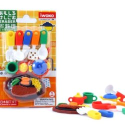 Iwako Japanese Eraser / Kitchen Eraser Set On Card