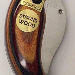 Made In Alaska Dymondwood Ulu Pocket Knife Folding Oak Red Black Naturals