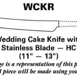 Wallace Golden Grande Baroque-(Strlg,Gold Acct) Wedding Cake Knife With Stainless Blade Hc