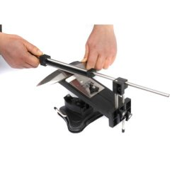 Kingzer New Fixed-Angle Kitchen Knife Sharpener System Sharpening Frame With 4 Stones