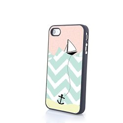 Generic Phone Accessories Matte Hard Plastic Phone Cases Stripes Aztec Anchor Fit For Iphone 4/4S