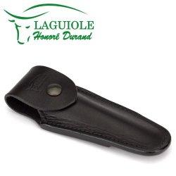 Laguiole Honoré Durand Black Leather Belt Pocket For 11/12 Cm Knives - Knife Case - Quality Sheath