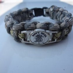 Navy Seal Paracord Survival Bracelet With Charm By Bostonred2010 (8)