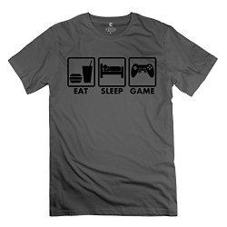 Eat Sleep Game Hot Man T-Shirt Size Xl Color Deepheather