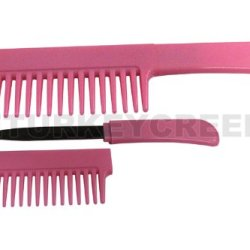"Pk-107P Pink Hxxxh Comb With Hidden Knife Ek9Ecbdbw 6.5"" Overall Ayeuiu56 Hlbv23Rt This Item Bctwvpwwjs Looks Like A Standard Plastic Comb. Pull Off The Top To Reveal A Sharp 3"" Zonzf Single Edged Blade!"