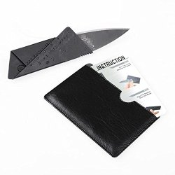 Black Outdoor Handy Pocket Card Shape Safety Folding Camping Knife Portable Nd