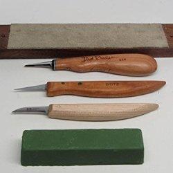 3 Wood Carving Knives R. Murphy Butz Floyd Rhadigan Strop Formax Compound