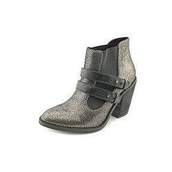 Kelsi Dagger Jalynn Womens Size 8 Silver Suede Booties Shoes