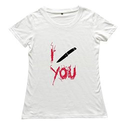 Women'S Knife Custom Hot White T-Shirts By Rrg2G