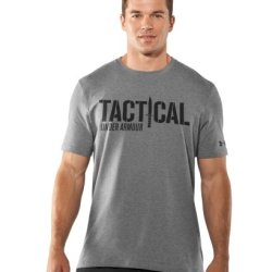 Under Armour Men'S Knife Charged Cotton® T-Shirt Large True Gray Heather