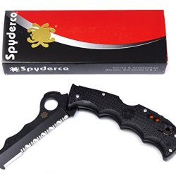 Spyderco Assist With Carbide Tip Frn Combination Edge Black Blade Knife