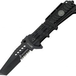 Mtech Usa M-1001B Us Marines Plastic Handle Folding Knife, 5-Inch Closed Length