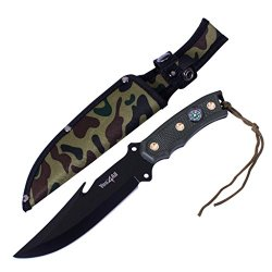 Yes4All H266A Tactical Hunting Survival Knife Skinner Bowie Fixed Blade With Camouflage Nylon Sheath - Speicial Promotion - ²Hb6Yz