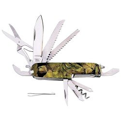 New Camo Camouflage Camper Pocket Knife 16 Function Multi Tool Survival Hunting
