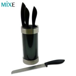 Mixe Black 5 Piece Knife Block Set