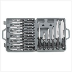 Stainless Steel Knife 19 Piece Set With Carrying Case