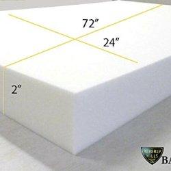 "2"" X 24"" X 72"" Upholstery Foam Cushion Medium Density(Seat Replacement , Upholstery Sheet , Foam Padding)"