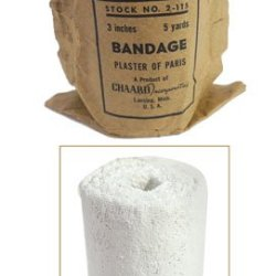 """3"""" Wide Gauze Embedded With Plaster Of Paris (15) Foot Roll"""