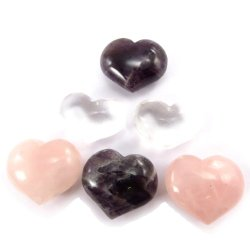 Set Of 6 Small Paper Presses 'Love'(Natural Stone).