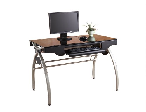 Picture of Comfortable Homelegance Downtown Collection Arch Base Computer Desk (B004NBXV0I) (Computer Desks)