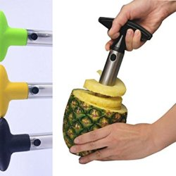 Fruit Peelers Pineapple Corer Slicer Cutter Parer Cutter Knife Stainless Kitchen Tool-Black