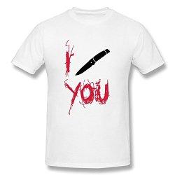 Shmuy Men'S Knife Cotton Round Collar T Shirt,Xl,White