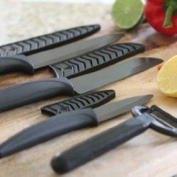 Ceramic Knife Set Of 7 Black