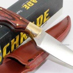 Schrade Custom Hunter, Wood Handle, Plain Edge