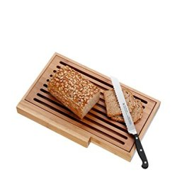 Spitzenklasse Bread Knife Set With Bread Board And Tray