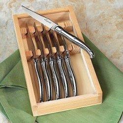 Jean Dubost Laguiole 6-Piece Steak Knives -Stainless Steel