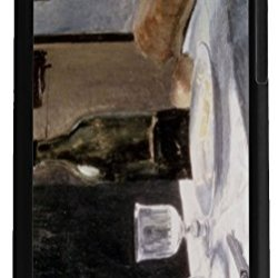 Rikki Knighttm Claude Monet Art Still Life With Bottles And Knives 2-In-1 Black Hard Plastic Top With Black Silicone Rubber Protective Insert Case Cover For Apple Iphone 5 & 5S
