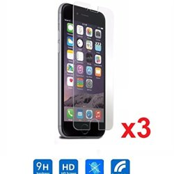"""Etech Collection 3 Piece Of Premium Tempered Glass Screen Protector For Apple Iphone 6 Plus 5.5"""" Model (0.3Mm) 9H Hardness / Scratch Proof / Bubble Free / Oleophobic Coating / Transparent Crystal Clear - Free Shipping From Usa"""