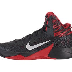 Nike Mens Zoom Hyperfuse 2013 Black/Mtllc Silver/Unvrsty Rd Basketball Shoes 11 Men Us