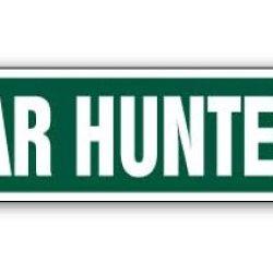 Boar Hunter Street Sign Wild Hunt Hunting Gun Arrow
