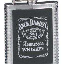 Jack Daniels Ribbed Flask