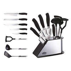 Peterhof 8Pc Knives And Kitchen Tool With Stand 18/10 Stainless Steel Ph-22382