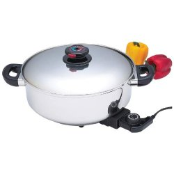 "Exclusive Direct Sales Incomparable Cookware 12"" S.S Dp Skillet/Slow Cooker Standout"