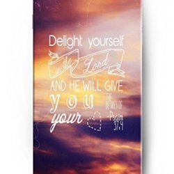 Iphone 6 4.7 Case Ouo Inspiration Quotes Delight Yourself In The Lord And He Will Give You The Desires Of Your Heart Psalm 37:4 Hard Plastic Iphone 6 Case Cover Protection