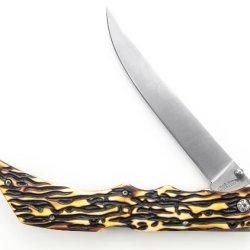 Uncle Henry 169Uh Lockback Folding Fillet Knife With Nylon Sheath