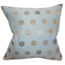 The Pillow Collection Calynda Dots Pillow, Tiffany