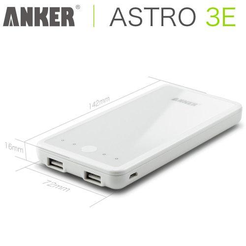 Anker Astro3E 大容量モバイルバッテリー10000mAh【18ヶ月保証】iPhone5S、5C、5、4S/iPad Air/iPad Mini Retina/iPad Mini/iPad/iPod/Galaxy/Xperia/ASUS/Android/各種スマホ等対応