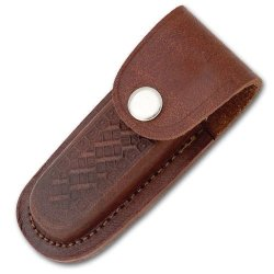Leather 4 Inch Folding Knife Sheath With Snap