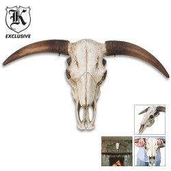 """Huge Full Size Bull Steer Skull 32"""""""