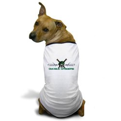 Cafepress Double Daggers Dog T-Shirt - L White [Misc.]